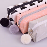 Stationery Cosmetic Storage Makeup Pouch Pencil Case Canvas Pen Bag Coin Purse