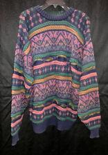 Mens Vintgage Aigner Designer XL Multi Colored Sweater.
