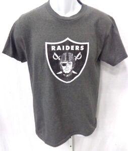 Oakland Raiders Football Short Sleeve Shirt Dark Gray New