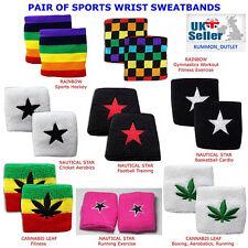 2 pcs Sports Sweatband Wrist Band Gym Footabll Squash Aerobics Running Wristband