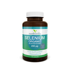 Selenium Organic 200ug Selenomethionine | Bioavailable 120 capsules + INULIN