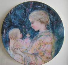 Edna Hibel Plate Kristina and Child Royal Doulton 1975, framed