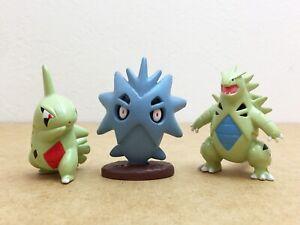 Pokemon TOMY Monster Collection Larvitar Pupitar Tyranitar Figure Set of 3