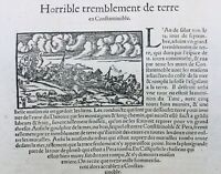 Tremblement de Terre Constantinople 1575 Istanbul Turquie Byzance Grec Pera