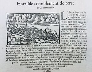 Terremoto Di Terra Costantinopoli 1575 Istanbul Turchia Bisanzio Greco Pera