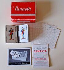 WADDINGTON'S CANASTA CARD GAME -  A RARE VINTAGE GAME