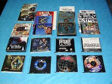 PC VIDEO GAMES LOT - CD-ROM GAMES - VINTAGE - Various Titles