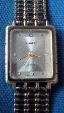 Visage ladies quartz watch diamond look markers