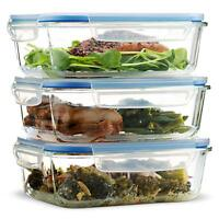 Superior Glass Meal Prep Containers - 3-pack (28 oz)  Airtight Food Storage
