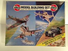 Airfix 4 Kit Plastic Model Set - Mint Boxed - Unbuilt - 1983 - 3 Planes & MG K3