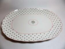 "Nikko Rose Bouquet American Country Oval Platter 13"" Pink Green"