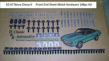 Front End Sheet Metal Hardware 148pc Kit 62-67 Nova Chevy II sheetmetal bolt set