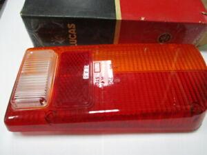 Lotus Europa LH tail lamp lens Euro version NOS Lucas 54581628 amber red clear