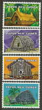 PAPUA NEW GUINEA 1976 NATIVE DWELLINGS 4v USED.