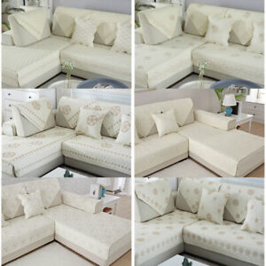 1-4 Seater Washable Slipcover Couch Sofa Cover Waterproof Pet Kid Mat Protector