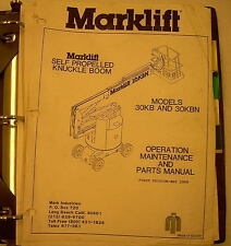 Mark Industries 30KB/30KBN Knuckled Boom Operation/Maintenanc/Parts Manual 13501