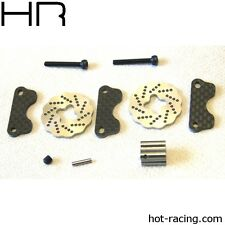Traxxas Jato Dual Steel Wave Disk Brakes w/ Carbon Fiber Pads Hot Racing SJT39DG