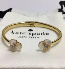 Kate Spade New York Disco Pansy Thin Cuff Bracelet w/ KS Dust Bag