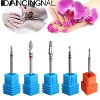 Electric Carbide Nail Art Cylinder Cuticle File Drill Bit Manicure Pedicure