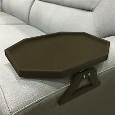 Wooden Sofa Couch Armrest Clip-On Table, Recliner Armrest Organizer Tray for Cof