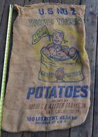 Vintage Tasty Taters Haynes & Walden Farms Tulelake Calif Potatoes Sack Burlap
