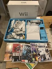 Nintendo Wii Console Bundle, Complete Setup Boxed With 5 Games