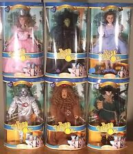 "COMPLETE SET 6 Brass Key Wizard of Oz 16"" Porcelain Figures NEW - Charity Item"