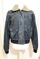 BEN SHERMAN Men Retro Denim Jacket Padded Collared XL Coat
