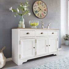 FineBuy Solid White Cajones del armario Country house madera Armario pequeño
