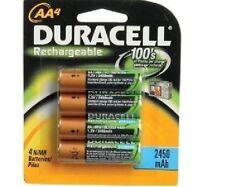 8x duracell aa rechargeables piles 2450 mah 2450mAh 1.2V nimh loose flat pack