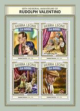Sierra leone 2016 neuf sans charnière rudolph valentino 90th memorial 4v m/s film films timbres