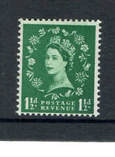 More details for gb 1952, sg589 1 1/2d green wilding 2 graphite lines (w179 wmk). unmounted mint