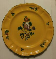 PEASANT VILLAGE PV ITALY Hand Painted Plates Yellow Floral Set of 3 Plates Rare