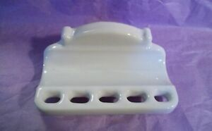Antique Porcelain Toothbrush Toothpaste Holder Wall Mount