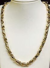 "18kt Yellow Gold handmade Link men's Chain Necklace 30"" 8 MM  200+ grams"