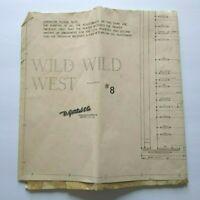 Gottlieb Wild Wild West Pinball Machine Original Wiring Diagram Schematic 1969