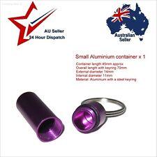 Small Aluminium Waterproof Container x1 Diameter 14mm pills survival kit matches