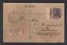 Marienwerder 50 pfg single franking Germania on card, Bock Attest, Michel 17x