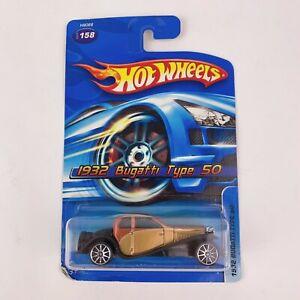 2005 Hot Wheels #158 1932 Bugatti Type 50 Car