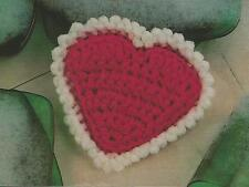 Crochet Pattern ~ HEART SCRUBBIE Dishcloth ~ Instructions