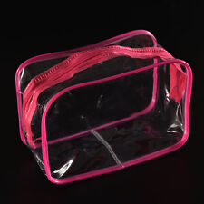 Hot Sale Clear Transparent Plastic PVC Travel Makeup Cosmetic Toiletry Zip Bag