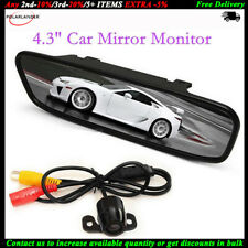 "4.3""TFT Mirror Monitor LCD Car Waterproof with 170 Degree Angle Rear View Camera"