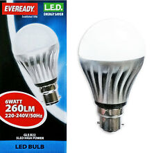 Eveready 6w BC B22 Bayonet Cap Globe LED GLS Energy Saving Light Bulb 25w
