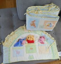 Winnie The Pooh And Friends Crib Bumper Set 3D Plush Disney 2004