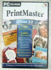 20738-Print Master Silber 12 [NEU/versiegelt] - PC (2001) Windows XP 1071a