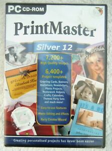 20738 - Print Master Silver 12 [NEW / SEALED] - PC (2001) Windows XP 1071A