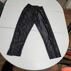 Eastbay Boys Straight Pants Black Pockets Side Snap Buttons Elastic Waist YL