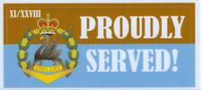 11TH/28TH BN ROYAL WESTERN AUSTRALIA REGIMENT PROUDLY SERVED STICKER 80 X 180MM