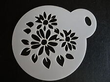 LASER CUT piccolo motivo a fiori DESIGN CAKE, biscotti, CRAFT & Face Painting Stencil