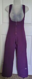 Obermeyer Womens Ski Bibs Pants Stirrup Purple Stretch Wool Blend Vintage 6R